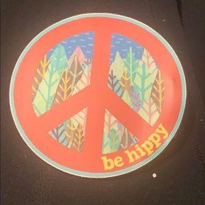 Be hippie sticker